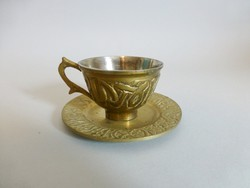 Antik sárgaréz kávéscsésze II.