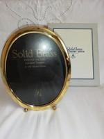 Eladó régi( de nem használt) ovális réz álló képkeret dobozában