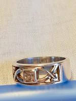 Eladó vastag jelzett Mckintosh  ezüst 925-ös gyűrű cirkónia kővel