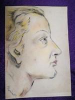 Rainerné Istvánffy Gabriella (1875 - 1964) Önarckép