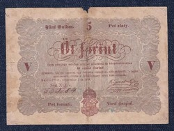 5 Forint 1848, sor XQ, barna nyomat/id 8930/