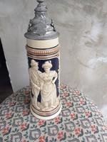 Antik 2 literes fedeles korsó