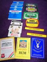 """15 db. sörös és egyéb szeszes ital """"szűz"""" címke a 60-70-es évekből"""