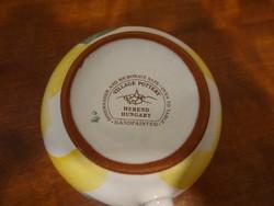 Herendi majolika, kézzel festett teás + kávés készlet