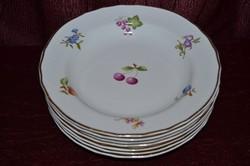 6 db csoda szép Hollóházi mély tányér