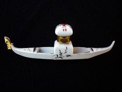 Vintage porcelán tintatartó velencei emléktárgy