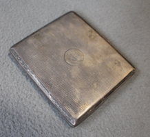 Monogramos ezüst cigarettatárca agár fejes jelzéssel, Schuch L. utódai