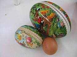 2 db retro papírmasé tojás