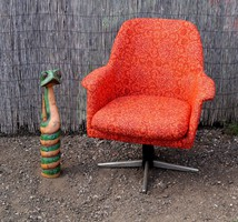 Retro kromozott forgó fotel jó állapot