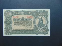 500 korona 1923 Hajtatlan bankjegy !