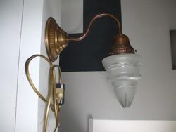 Réz falikar fali lámpa
