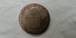 Gyönyörű tartású bronz 3 krajcár eladó 1849 NB! Ritkaság, főleg ilyen állapotban!