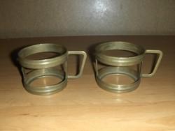 Réz pohártartó párban (KV)