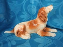 Nagyméretű porcelán kutya figura 35 cm * 11cm * 17 cm