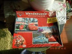 Kétoldalas puzzle - Disney autók