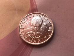 1996 San Marino ezüst 1000 líra 14,6 gramm 0,835 Ritka