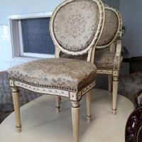 XVI:Lajos empier stilusú eredti  2 darab karfa nélküli szék
