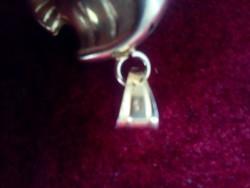 Cuki pufi aranyozott ezüst halacska medál