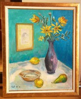 Csendélet sárga virágokkal (50 x 40 cm)