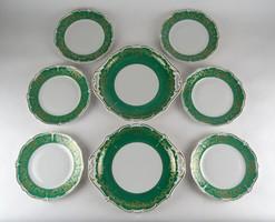 0X053 Weimar zöld Katharina süteményes készlet