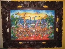 Bali festmény Ketut Soki Barong eladó
