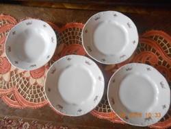 Zsolnay barokk, virág csokor mintás tányérok