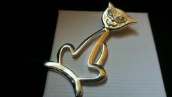 Ezüst cica medál