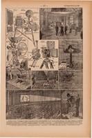 Film, mozi, nyomat 1923, francia, 19 x 29 cm, lexikon, eredeti, mozifilm, forgatás, vetítőgép