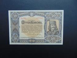 50 korona 1920 Hajtatlan bankjegy !