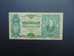 10 pengő 1929 B 445 RITKA bankjegy !