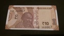 India 10 Rupia UNC 2017