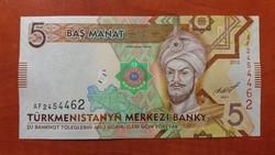 Türkmenisztán 5 Manat UNC 2012