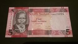 Dél-Szudán 5 Pounds UNC 2015