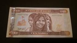 Eritrea 10 Nakfa UNC bankjegy 2012