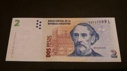 Argentína 2 Pesos 2012 UNC