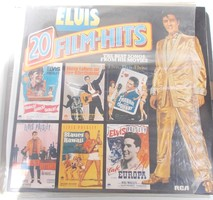 Retro nosztalgia hanglemez bakelit lemez Elvis Presley LP 20 Film Hits - Club Edition