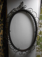 Antik kovácsoltvas tükörkeret képkeret 70*48 cm