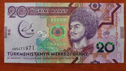 Türkmenisztán 20 Manat UNC 2017