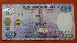 Ruanda 2000 Francs UNC 2014