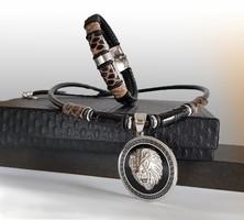 Versace oroszlános nyaklánc és karkötő szett leírása