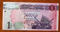 Líbia 1 Dinar 2013 UNC