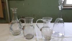 Régi üvegek..kancsók