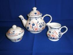 Gyönyörű Churchill England (Angol) porcelán tea-kávé készletből kiöntő, cukortartó, tejkiöntő