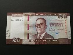 LIBERIA 20 DOLLAR 2016 UNC