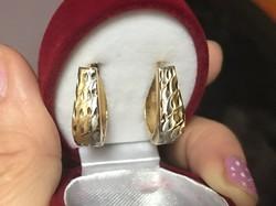 Szépséges 14 k arany fülbevaló eladó