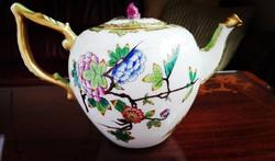 1884-96 közti QueenVictoria mintás Ó Herendi porcelán kanna az első Rt. korszakból