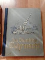 Die Deutsche Wehrmacht Zigarettenbilder Album Kemény Papír tokban 1936