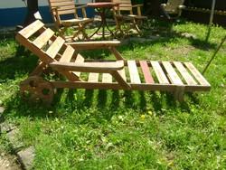 Régi/retro napozóágy, nyugágy - kerti bútor