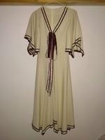 Antik jellegű, 1930-as éveket idéző vintage női ruha, masnis koktélruha