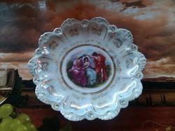 Antik osztrák porcelán dísztányér